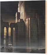 Castle Sunset Wood Print