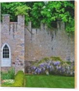 Castle Wall At The Highlands Wood Print