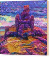 Castles In The Sand Cs-1a Wood Print