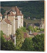 Castles Of Curemonte Wood Print