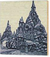 Castles On The Beach Wood Print