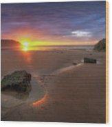 Caswell Bay Sunrise Wood Print