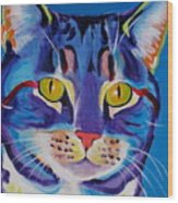 Cat - Lady Spirit Wood Print by Alicia VanNoy Call