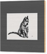 Cat 2 Wood Print