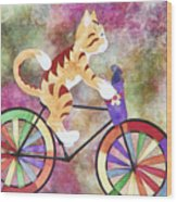 Cat And Mouse Wood Print