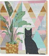 Cat Collage Wood Print
