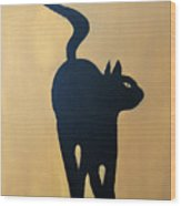 Cat Dance..... Optical Illusion Wood Print