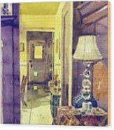 Cat Door Wood Print