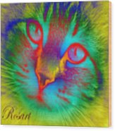 Cat Fluorescent Wood Print
