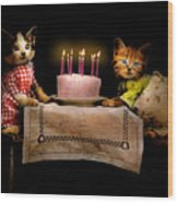 Cat - It's Our Birthday - 1914 Wood Print