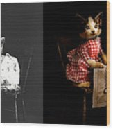 Cat - It's Our Birthday - 1914 - Side By Side Wood Print