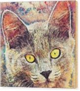 Cat Kiara Wood Print