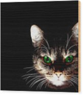 Cat Shadow Wood Print