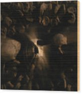 Catacombs - Paria France 3 Wood Print