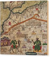 Catalan Map Of Europe And North Africa Charles V Of France In 1381  Wood Print
