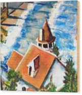 Catalina Cottage Sold Wood Print