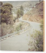 Catalina Island Mountain Road Picture Wood Print