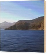 Catalina Shoreline Wood Print