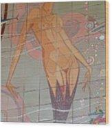 Catalina Tile Mermaid Wood Print