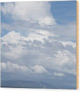 Catamaran Beach Clouds Wood Print