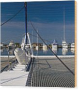 Catamaran Ready To Sail Wood Print