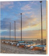 Catamarans In The Sun Wood Print