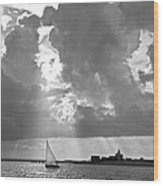 Catboat In Barnstable Harbor Wood Print