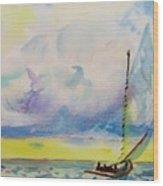 Catboat Wood Print