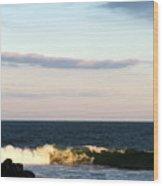 Catch A Wave Wood Print
