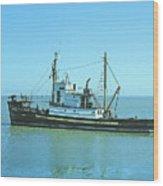 Catch Boat Allen Cody For Del Monte Fishing Co. Taken On July 5  Wood Print