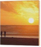 Catching A Setting Sun Wood Print