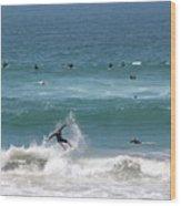 Catching Air In Huntington Beach California Wood Print