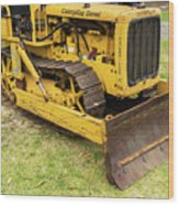 Caterpillar D2 Bulldozer 01 Wood Print