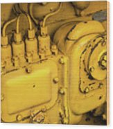 Caterpillar D2 Bulldozer 06 Wood Print
