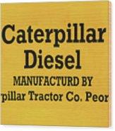 Caterpillar D2 Bulldozer 08 Wood Print