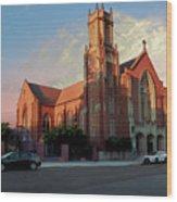 Cathedral At Dawn Wood Print