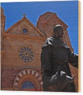 Cathedral Basilica In Santa Fe Wood Print