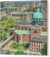 Cathedral Basilica Of Saints Peter And Paul Philadelphia  Wood Print
