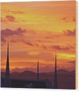 Cathedral Church Sunset Wood Print