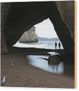 Cathedral Cove Wood Print