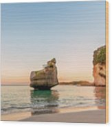 Cathedral Cove, New Zealand Wood Print