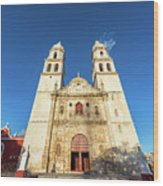 Cathedral In Campeche Wood Print