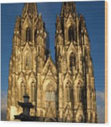 Cathedral In Cologne  Wood Print