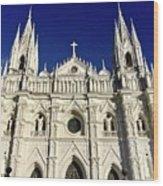 Cathedral In El Salvador Wood Print