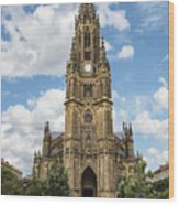 Cathedral In San Sebastian Is The Largest Religious Structure In The Basque Country Wood Print
