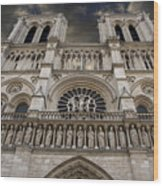 Cathedral Notre Dame Of Paris. France   Wood Print