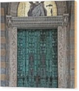 Cathedral Of Amalfi Door Wood Print