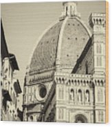 Cathedral Of Brunelleschi In Florence Wood Print