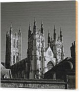 Cathedral Of Canterbury Wood Print
