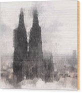 Cathedral Of Cologne Wood Print